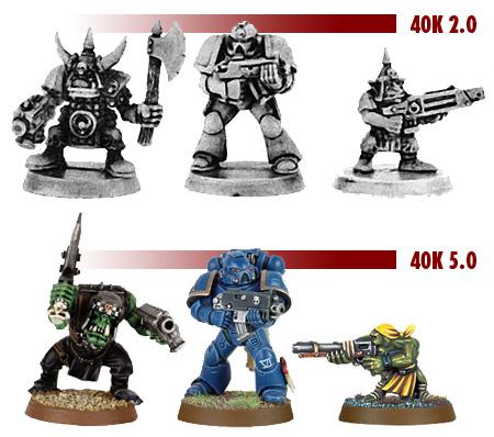 Warhammer 40.000 - Miniaturenvergleich