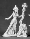 Egyptian Priestess and Baboon