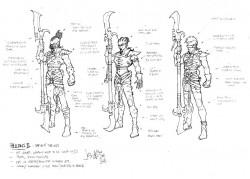 Hellion Dark Eldar Skizze