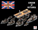 Dystopian Wars - Kingdom of Britannia Battle group