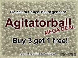 Agitatorballs Sonderangebot buy 3 get 1 free