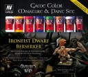 Vallejo - Game Color Miniatur & Paint Set Ironfist Dwarf Berserker