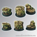 Scibor_Ancient Ruine Base 30mm rund set 1