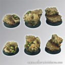 Scibor_Ancient Ruine Base 30mm rund set 2