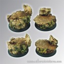 Scibor_Ancient Ruine Base 40mm rund set 2