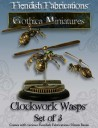 Fiendish Fabrications - Clockwork Wasp x3