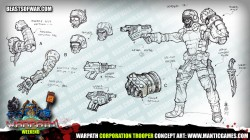 Warpath Corporation Trooper Concept Art