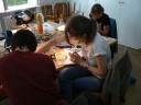 Teilnehmer am arbeiten