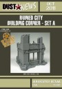 Dust Models - Ruined City Building Corner Set A