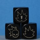 Gaspez-Arts - Fantasy Football - Dice, black