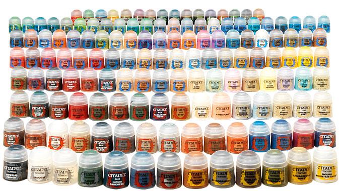 Citadel Colour Paint Range Checklist