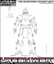 Urban War - Neo-Iskandrian Battlesuit back