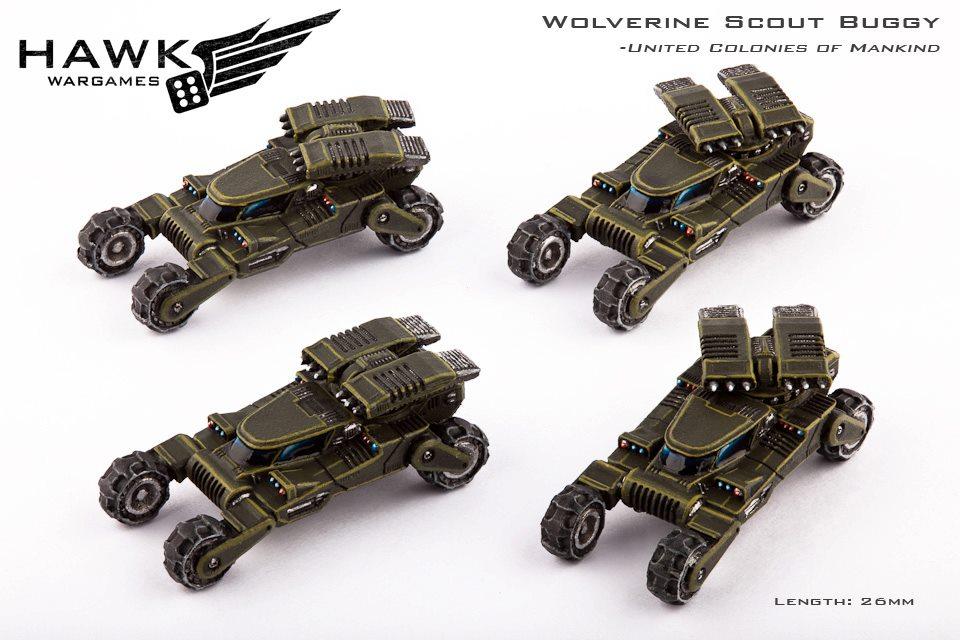 Drop zone commander HW_UCM-Wolverine-scout-buggies