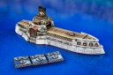 Dystopian Wars Kostroma Class Carrier with Tiny Flyers
