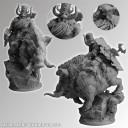 Dwarf of Chaos on War Boar 54mm 2