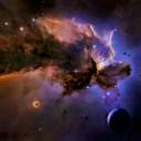 Fischkrieg - Spacematte Blau