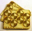 Saga Fatigue Marker Round Shields gelasert