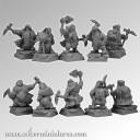 28mm Dwarves Miners set2