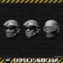 Köpfe Sci-Fi Soldaten