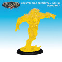Dragyri Fire Caste Greater Fire Elemental (Clear Yellow Resin)