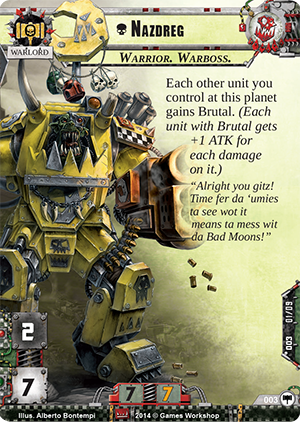 warhammer conquest how to exhaust a support card