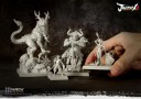 Journey plastic miniatures of the three Demon Lords and Kei Lun