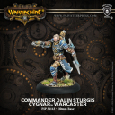 Commander Dalin Sturgis — Cygnar Warcaster Exclusive Alternate Sculpt