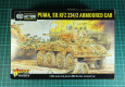 Wir nehmen uns mal wieder einen Schwung Plastikbausätze für den zweiten Weltkrieg im 28mm / 1:56 Maßstab vor. Dieses mal packen wir den Puma / SdKfz 234/2 von Warlord Games aus.