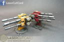 LaserCutCard Quad Cannon