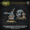 Privateer Press_Hordes Pyg Bushwhacker Officer & Mortar