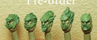 """Spellcrow bieten passend zu den Neuheiten von …""""jemand anderen"""" Köpfe von verwilderten Weltraumrittern zur Pre-Order an."""