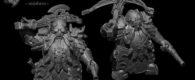 """Lost Kingdom Miniatures zeigen neue Preview Bilder von """"Captain with crossbow and Taurus""""."""