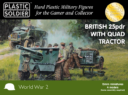 Plastic Soldier Company_Kickstarter PSC WW2 British 25 pounder artillery and tractor kit 2
