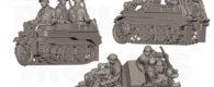 Rubicon Models präsentieren auf Facebook ihr neues SdKfz 2 Kettenkrad mit Besatzung.