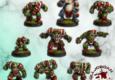 Rolljordan Miniatures aus Italien bringen uns ein Fantasy-Football Ork-Team.