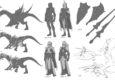 Mantic Games zeigen Konzepte für ihre neuen Drakon Riders.