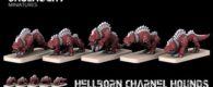 Dämonische Hunde aus der Hölle zeigen Onslaught Miniatures auf Facebook.