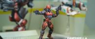 Bei Ash Barker von Guerilla Miniature Games gab es mal wieder ein Preview auf ein kommendes Infinity-Modell: Den Gecko Pilot mit seinen Messerpistolen. Pistolenmessern. Dings.