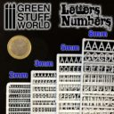 GSW Green Studd World Letters and Numbers