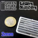 GSW Green Studd World Letters and Numbers 2 mm