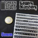 GSW Green Studd World Letters and Numbers 5 mm