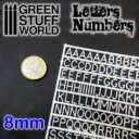 GSW Green Studd World Letters and Numbers 8 mm