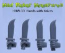 MRM_Mad_Robot_Miniatures_Waffenhände_Power_Mauls_Knives_Auto_Pistols_5