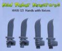 MRM_Mad_Robot_Miniatures_Waffenhände_Power_Mauls_Knives_Auto_Pistols_5