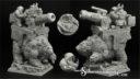 Scibor Miniatures Zwergenkanone auf Bär 01