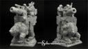 Scibor Miniatures Zwergenkanone auf Bär 02