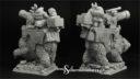 Scibor Miniatures Zwergenkanone auf Bär 03