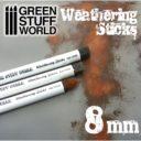 GSW 1weathering Sticks Foam Sponge Brushes 8mm