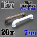 GSW Plasticard Pipe Elbows 7mm 01