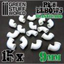 GSW Plasticard Pipe Elbows 9mm 02